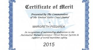 Certificate of Merit Margreth Pissarek